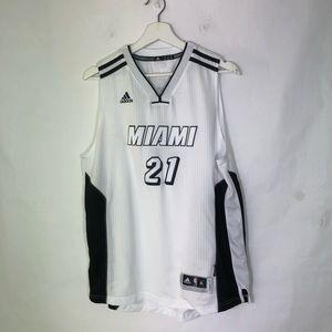 Miami Heat Adidas White Out Jersey Whiteside